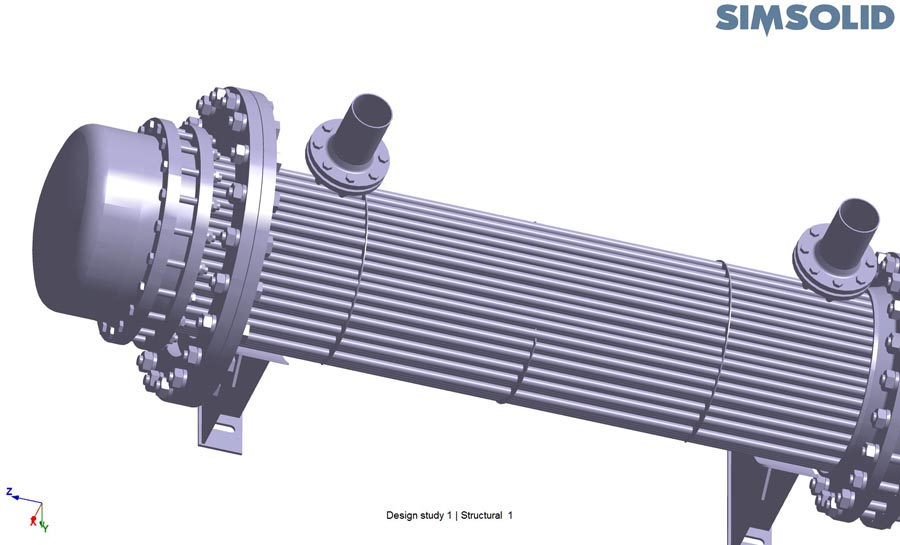 Using Altair SimSolid for complex heat exchanger